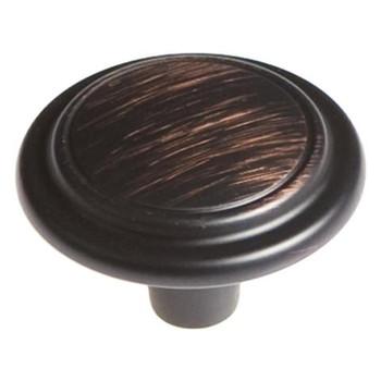 """Belwith Hickory, Eclipse, 1 1/4"""" Rim Design Round Knob, Vintage Bronze"""