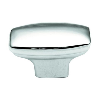 "Belwith Hickory, Eclipse, 1 7/16"" Rectangle knob, Polished Chrome"