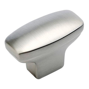 "Belwith Hickory, Eclipse, 1 7/16"" Rectangle knob, Stainless Steel"