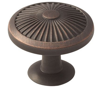 "Amerock, Crawford, 1 3/8"" (35mm) Round Knob, Oil Rubbed Bronze"