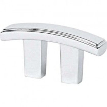"""Alno, Arch, 3/4"""" Curved Bar pull, Polished Chrome"""