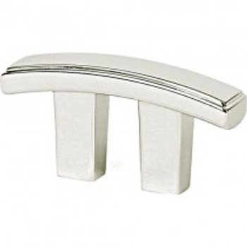 """Alno, Arch, 3/4"""" Curved Bar pull, Polished Nickel"""