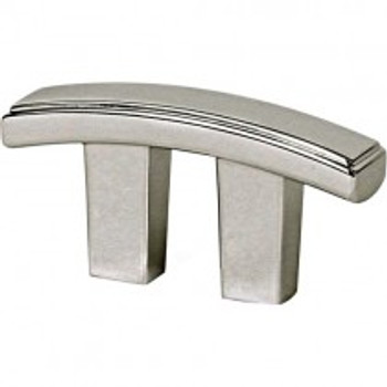 """Alno, Arch, 3/4"""" Curved Bar pull, Satin Nickel"""
