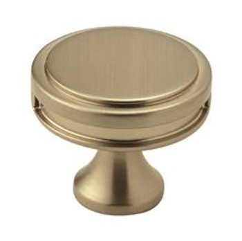 "Amerock, Oberon, 1 3/8"" (35mm) Round Knob, Golden Champagne"