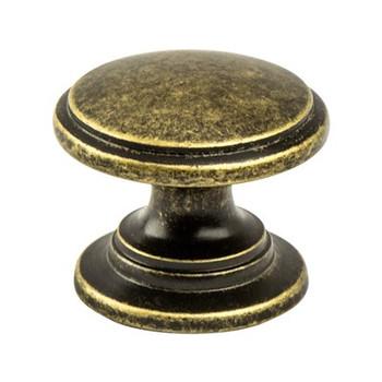 """Berenson, Andante, 1 3/16"""" Round Knob, Dull Bronze"""