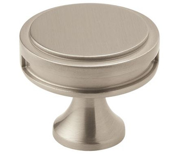 "Amerock, Oberon, 1 3/8"" (35mm) Round knob, Satin Nickel"