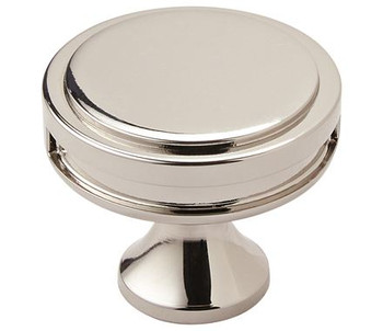 "Amerock, Oberon, 1 3/8"" (35mm) Round knob, Polished Nickel"