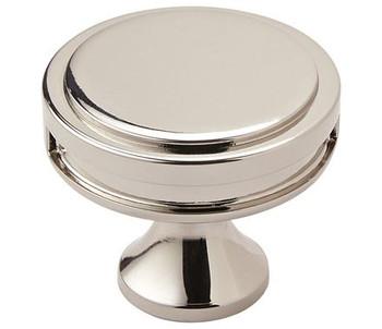 "Amerock, Oberon, 1 3/8"" (35mm) Round Knob, Polished Nickel"