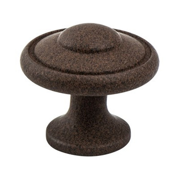 "Berenson, Euro Traditions, 1 3/16"" Round knob, Dull Rust"