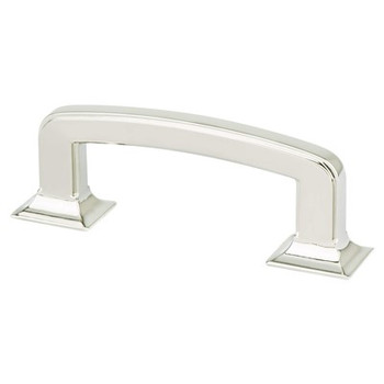 """Berenson, Designers Group Ten, 3"""" Hearthstone Curved Pull, Polished Nickel"""