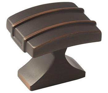 """Amerock, Davenport, 1 1/4"""" Square Knob, Oil Rubbed Bronze"""