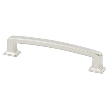"""Berenson, Designers Group Ten, 6 5/16"""" (160mm) Hearthstone Curved Pull, Polished Nickel"""