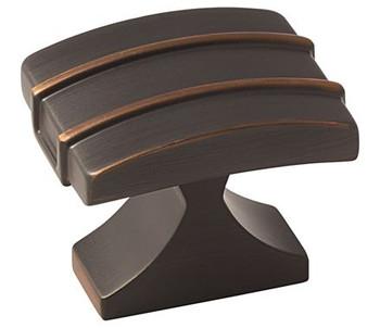 """Amerock, Davenport, 1 1/2"""" Square Knob, Oil Rubbed Bronze"""