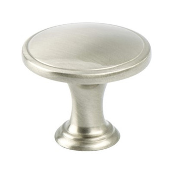 "Berenson, Oasis, 1 1/4"" Round knob, Brushed Nickel"