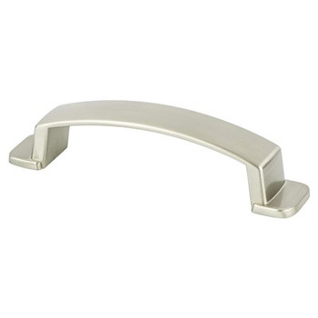 "Berenson, Oasis, 3 3/4"" (96mm) Curved pull, Brushed Nickel"