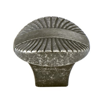 "Berenson, Opus, 1 3/8"" Round knob, Rustic Tin"
