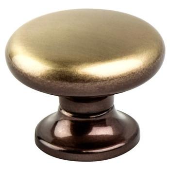 """Berenson, Valencia, 1 3/8"""" Round knob, Brushed Bronze"""