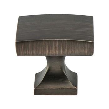 "Berenson, Epoch Edge, 1 3/8"" Rectangle Knob, Verona Bronze"