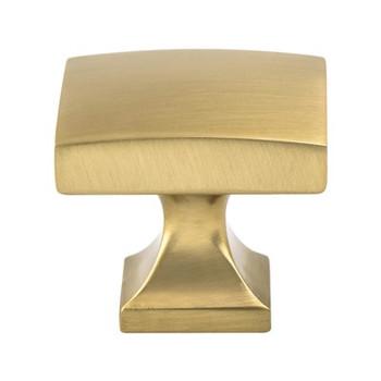 "Berenson, Epoch Edge, 1 3/8"" Rectangle Knob, Modern Brushed Gold"