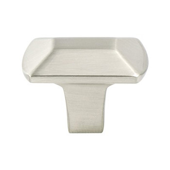 "Berenson, Laura, 1 7/16"" Rectangle Knob, Brushed Nickel"