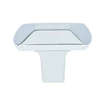 "Berenson, Laura, 1 7/16"" Rectangle Knob, Polished Chrome"