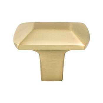 "Berenson, Laura, 1 7/16"" Rectangle knob, Modern Brushed Gold"