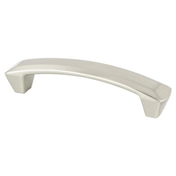 "Berenson, Laura, 3 3/4"" (96mm) Curved Pull, Brushed Nickel"