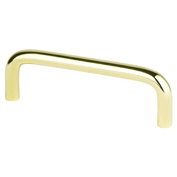 """Berenson, Zurich, 3 1/2"""" Wire Pull, Polished Brass"""