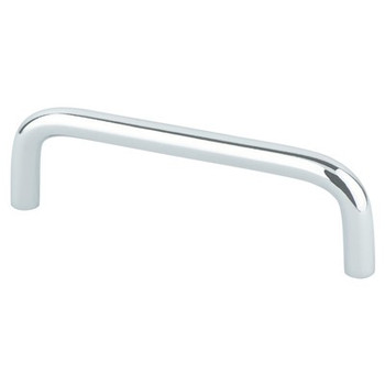 """Berenson, Zurich, 3 3/4"""" (96mm) Wire Pull, Polished Chrome"""