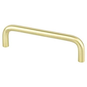 """Berenson, Zurich, 4"""" Wire pull, Satin Brass"""