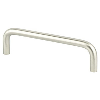 "Berenson, Zurich, 4"" Wire pull, Brushed Nickel"
