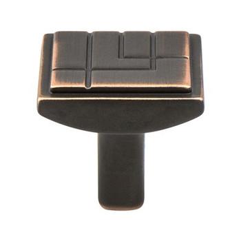"Berenson, Oak Park, 1 1/8"" Square knob, Verona Bronze"