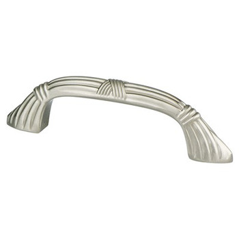 "Berenson, Toccata, 3"" Curved pull, Brushed Nickel"