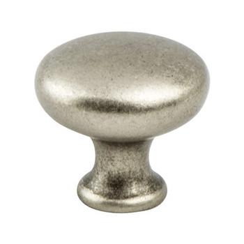 "Berenson, Traditional Advantage Four, 1 1/8"" Round Knob, Weathered Nickel"