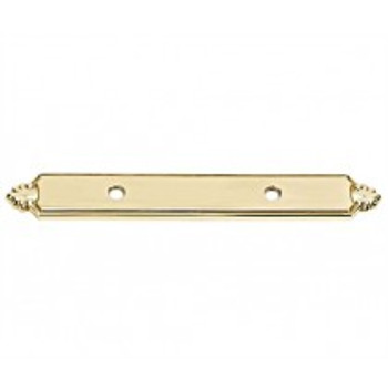 "Alno, Bella, 3 1/2"" Pull backplate, Polished Brass"