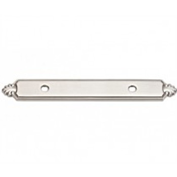 "Alno, Bella, 3 1/2"" Pull backplate, Satin Nickel"