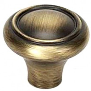 "Alno, Classic Traditional, 1 1/2"" Round Knob, Antique English Matte"