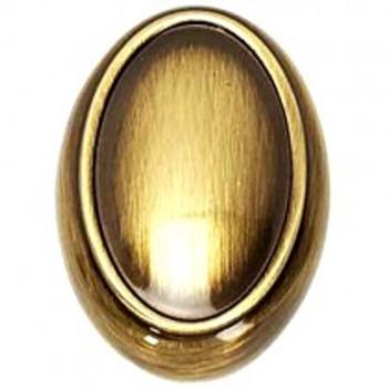 "Alno, Classic Traditional, 1 1/2"" Oval Knob, Antique English"