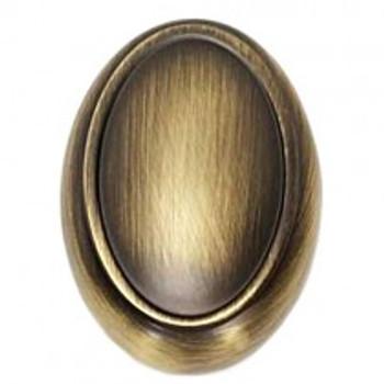 "Alno, Classic Traditional, 1 1/2"" Oval Knob, Antique English Matte"