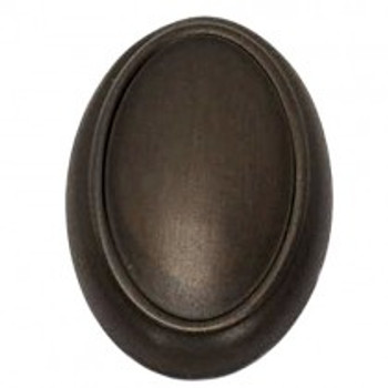"Alno, Classic Traditional, 1 1/2"" Oval Knob, Chocolate Bronze"