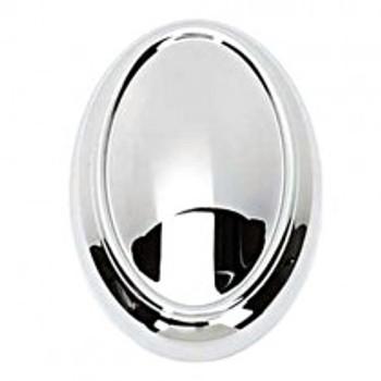 "Alno, Classic Traditional, 1 1/2"" Oval Knob, Polished Chrome"