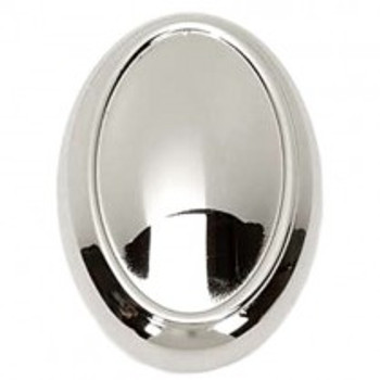 "Alno, Classic Traditional, 1 1/2"" Oval Knob, Polished Nickel"