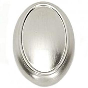 "Alno, Classic Traditional, 1 1/2"" Oval Knob, Satin Nickel"