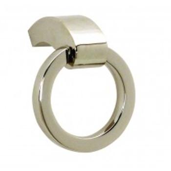 "Alno, Circa, 2 3/8"" Ring pull, Polished Nickel"