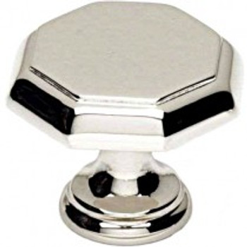 "Alno, Contemporary Knobs, 1 3/8"" Round Knob, Polished Nickel"