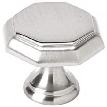 "Alno, Contemporary Knobs, 1 3/8"" Round Knob, Satin Nickel"
