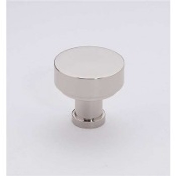 "Alno, Moderne, 1 1/8"" Round Knob, Polished Nickel"