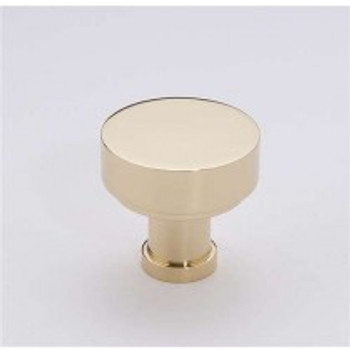 "Alno, Moderne, 1 1/2"" Round Knob, Polished Brass"