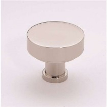 "Alno, Moderne, 1 1/2"" Round Knob, Polished Nickel"