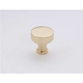 "Alno, Moderne, 1"" Round knob, Polished Brass"
